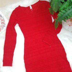 DRESS BODYSUIT RED LONG SLEEVE SIZE MEDIUM